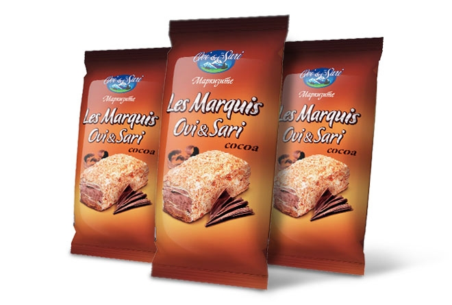 "Puff pastry cake ""Les Marquis"" cocoa"